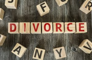 Wooden Blocks with the text: Divorce and if you need a top divorce attorney you will find one in Dayton.